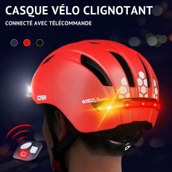 Casque de Vélo avec Clignotant